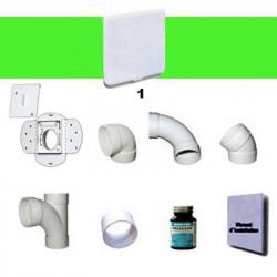 Kit 1 prise carrée blanche sans tuyaux