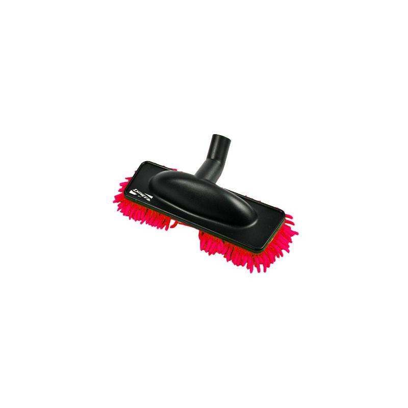 Brosse rasta mop microfibre rouge speciale parquet