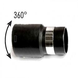 Embout boyau gris pivotant à 360°