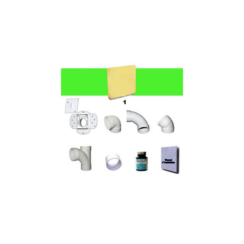 Kit 1 prise carrée beige sans tuyaux