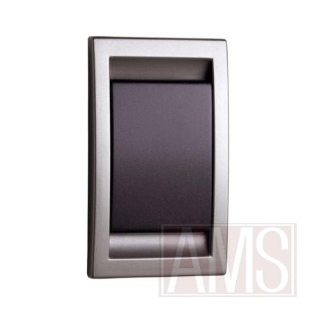 Prise abs inox & anthracite