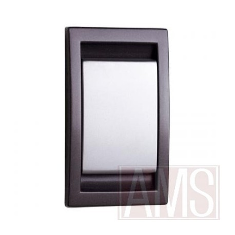 Prise abs anthracite & argent