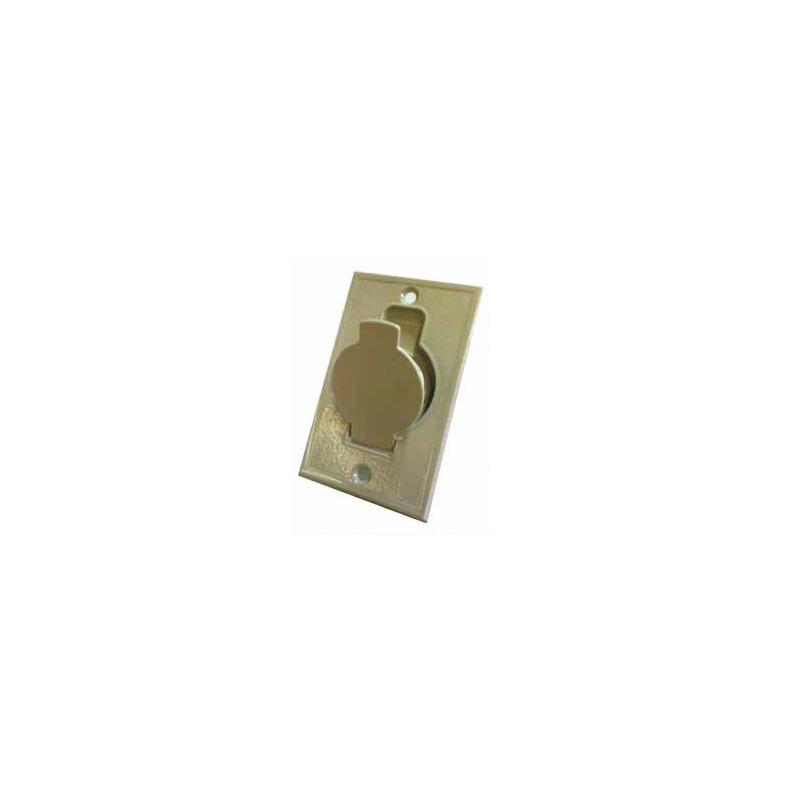 Prise métal plate blanche