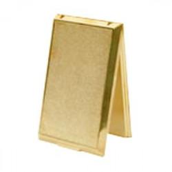 Prise métal porte pleine dorée