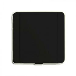 Prise métal Europe carrée noire