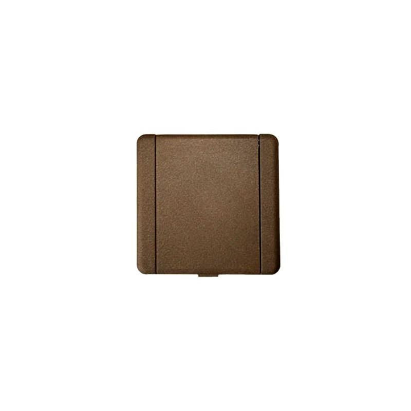 Prise métal Europe carrée bronze