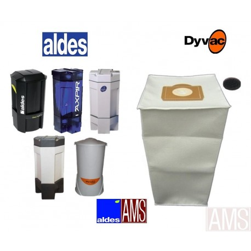 Sac 30 litres Aspiration centralisée Aldes + filtres