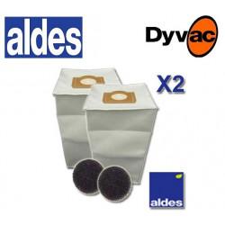 Sacs x2 aldes 30 litres Aspiration centralisée Aldes + filtres
