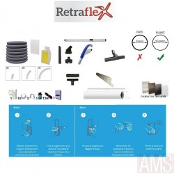 Rétraflex kit à poser 100m² / 120m² Gris Inox