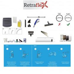 Rétraflex kit à poser 120m² / 170m² Noire